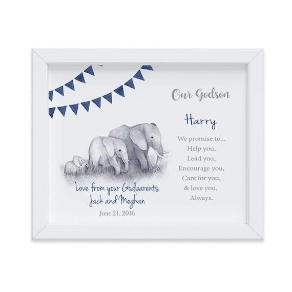 Godson Gift, Customized Baptism Gift from Godparents, Gift from Godparents, Christening Gift, Gift for Godson