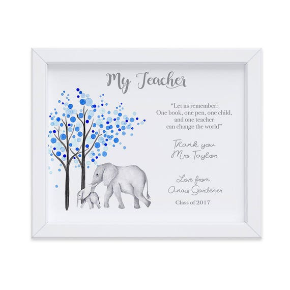 Personalized Gift for Teacher from Student, Classroom Thank You Gift at Semester End