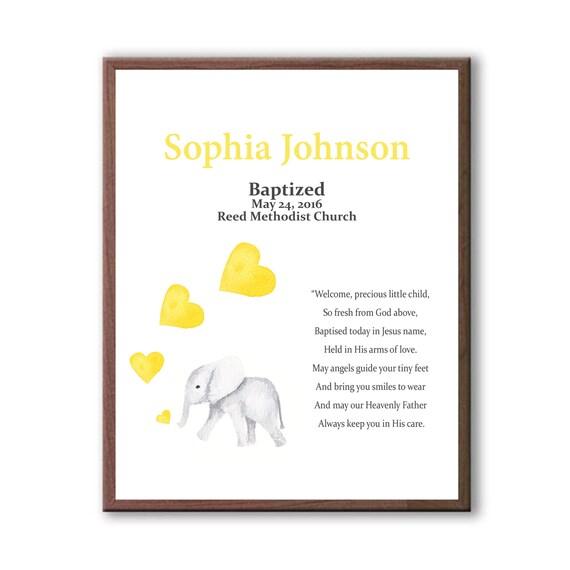 Geschenk Für Patenkind Taufe Taufe Geschenk Von Paten Taufe Geschenk Mädchen Baby Elefant