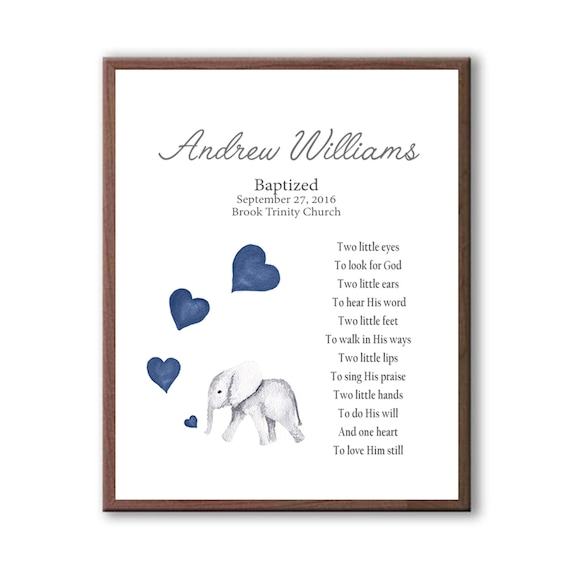 Baptism Gift From Godparents, Baby Boy Christening Art, Dedication Art Gift, Naming Day