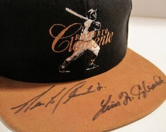 Roberto Clemente Commemorative Baseball Cap Signed By Roberto Clemente Jr  and Louis Clemente 1990 a7396e88e424