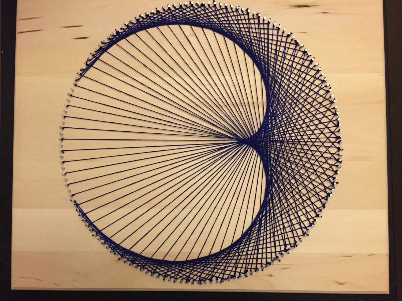 Geometric Cardioid String Art | Etsy