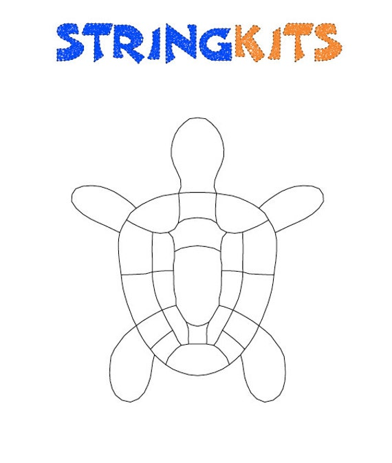 Turtle String Art Template Etsy