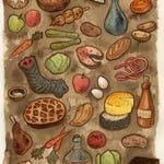 Foods of Skyrim print