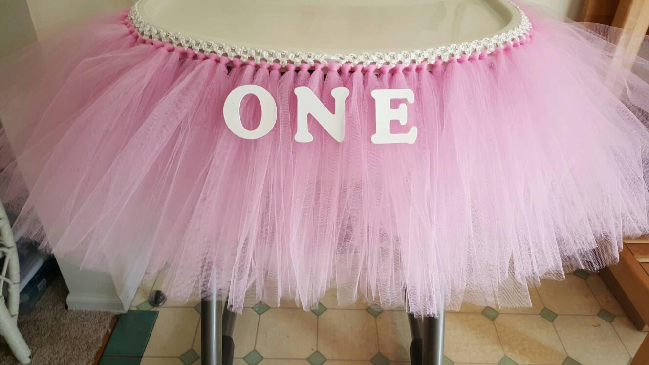 Tutu Table Skirt High Chair Tutu High Chair Banner Tulle Etsy