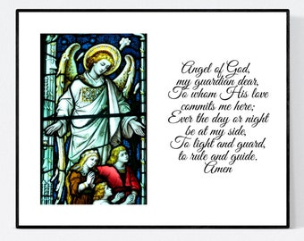 GUARDIAN ANGEL PRAYER   Unframed 10x8 Print   Wall Art   Free Shipping  