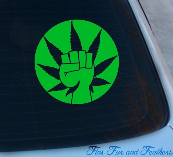 Custom Marijuana CannabisAdhesive Stencil Symbl* Sticker Shoes Decal Window Wall