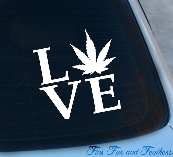 Weed love decal pot sticker marijuana cannabis