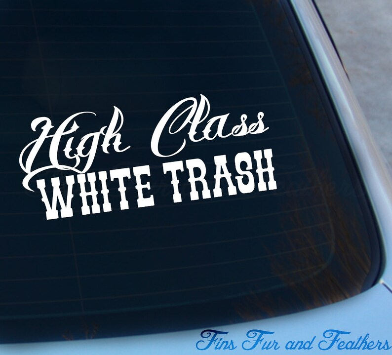 WHITE TRASH PRINCESS HELMET STICKER