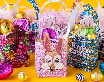 Kaylin art on etsy easter gift bags 8 pack printable gift bag template for easter mini easter gift bags printable party favor bags easter party bags pdf negle Gallery