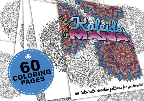 60 mandala coloring pages kaleidomania printable coloring for Selling coloring pages on etsy