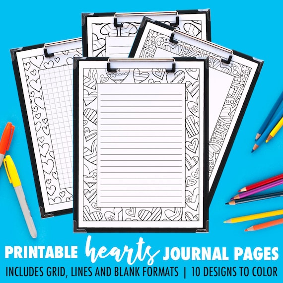 picture regarding Printable Journals called Coloring Magazine Webpages 10 Pack // printable publications / printable planner internet pages / coloring web page planner inserts / electronic take note paper PDF