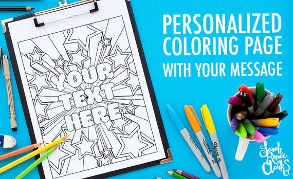 Customized Coloring Page Printable Made From