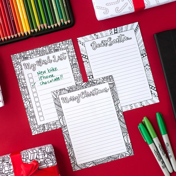 Diy Christmas Stationery Letters To Santa Christmas Wishlist Christmas Letter Templates Printable Pdf Download Xmas Coloring Pages