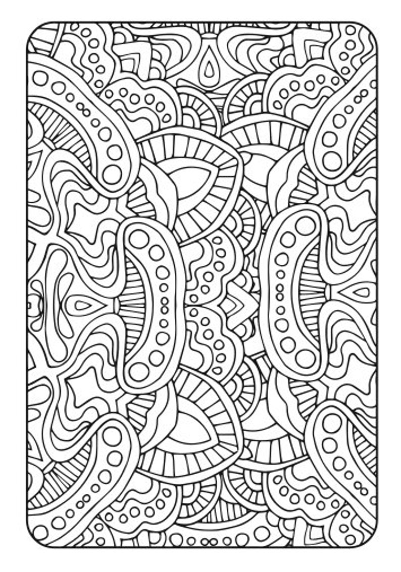 Adult Coloring Book Art Therapy Volume 2 Printable PDF | Etsy