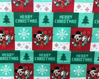 disney mickey mouse ugly christmas sweater print fabric disney fabric mickey fabric christmas fabric winter fabric holiday fabric - Disney Christmas Fabric