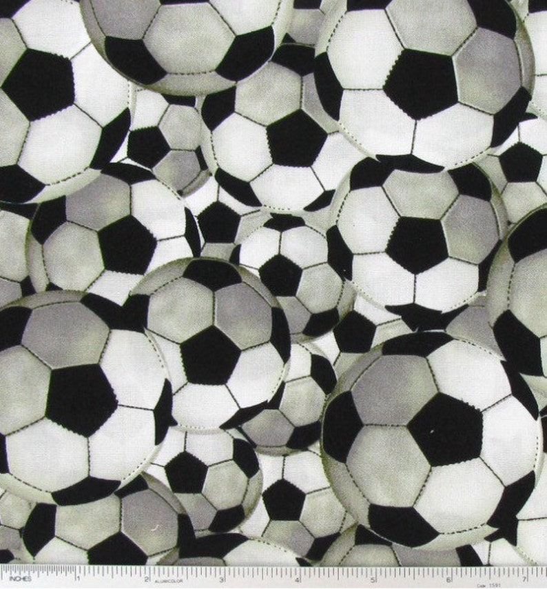 b8a0c9f6f Soccer ball fabric novelty fabric sports fabric athletic | Etsy