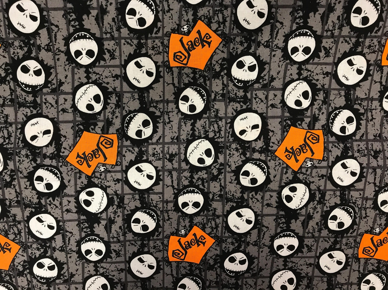 Nightmare Before Christmas Jack Skellington fabric Disney | Etsy