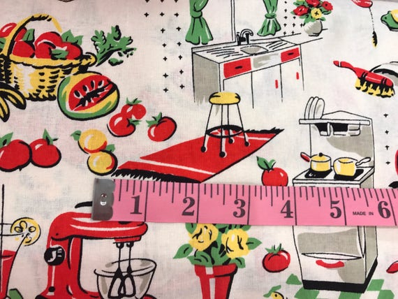 Vintage Kitchen Fabric Magnificent Design