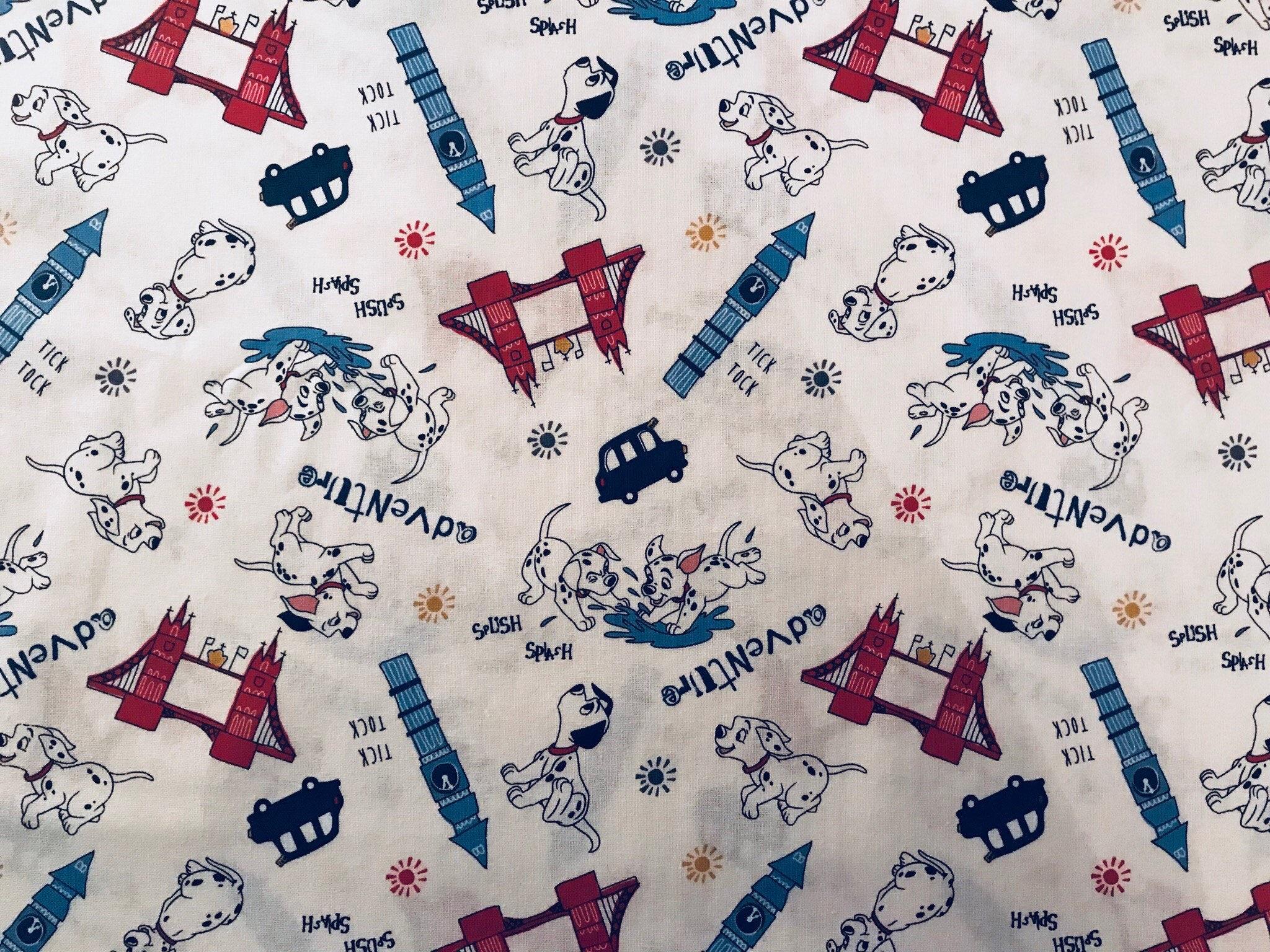 Disney 101 Dalmatian Adventure Fabric Disney Fabric London Etsy