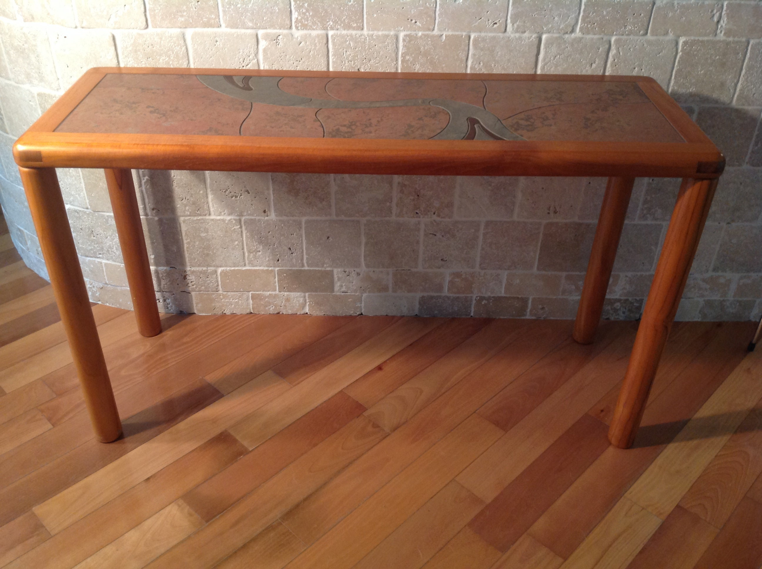 Picture of: Danish Teak With Tile Top Console Table By Haslev