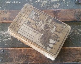 Louisa Alcott Story Book, antique book 1900's, rare Louisa May Alcott book edited for schools