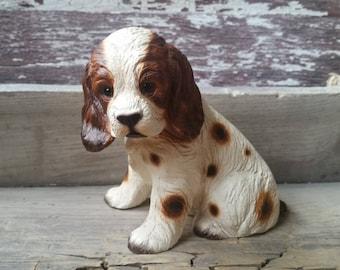 Springer Spaniel figurine, ceramic dog figurine, vintage dog collectible from Japan, Harvey Knox Kingdom ceramic dog