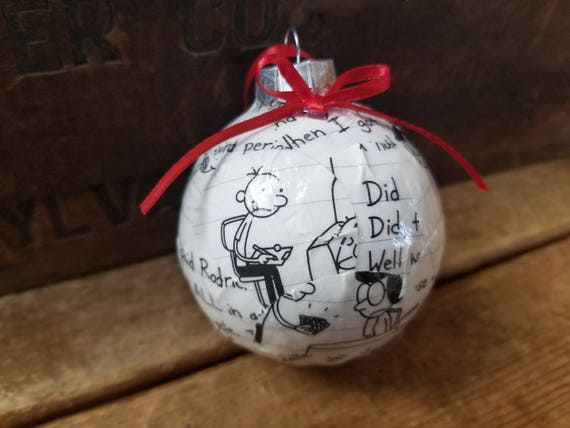 image 0 - Diary Of A Wimpy Kid Book Pages Ornament Upcycled Book Etsy
