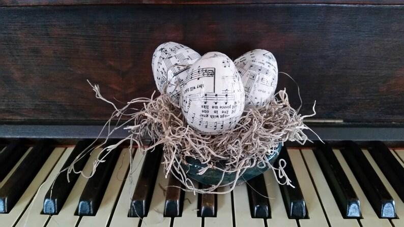 Oeufs de pâques de musique pages d'hymne sécantique | Etsy