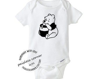 Antique Winnie The Pooh Baby Gerber Onesie. Baby Clothes fe17115d3