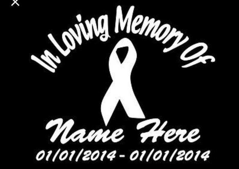 In Loving Memory Car Decals >> In Loving Memory Car Decal Ribbon Car Decal Cancer Awareness You Choose Color