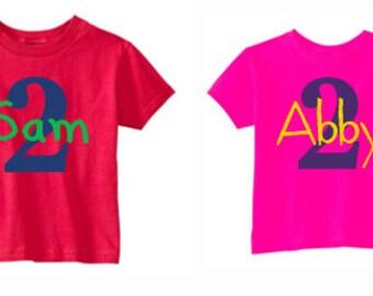 Kids Birthday Shirts, Birthday Shirts for Kids, Birthday Celebration Shirts