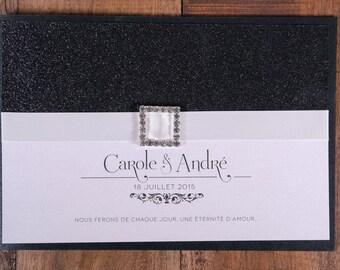 glam wedding invitation luxury invitation fancy wedding etsy
