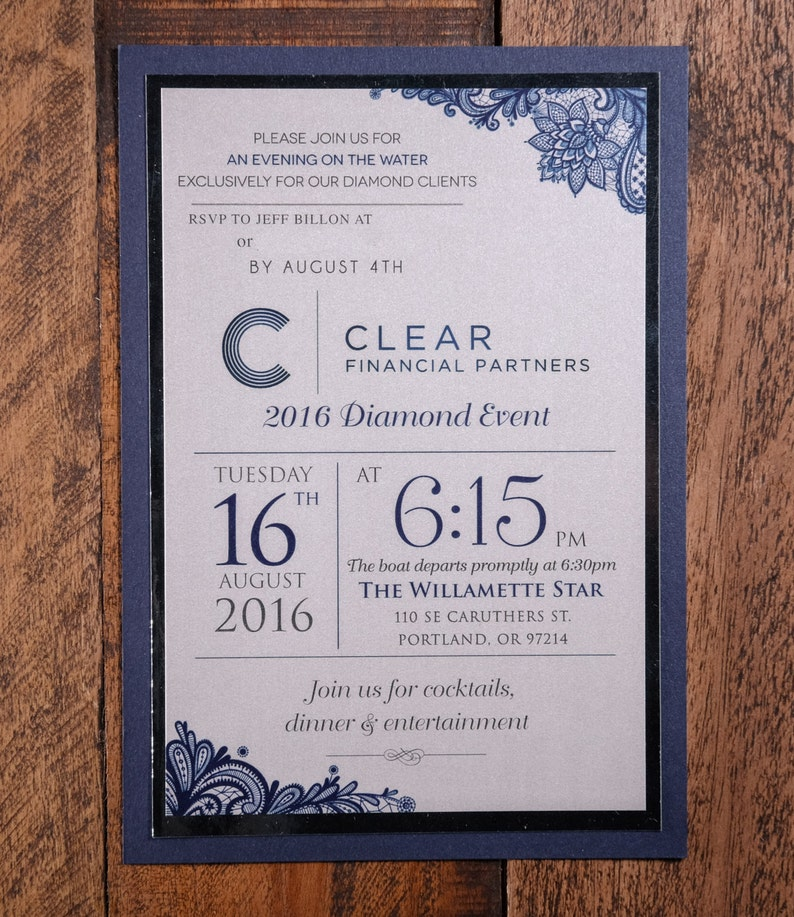Corporate Invitation Corporate Invitations Corporate Event Etsy