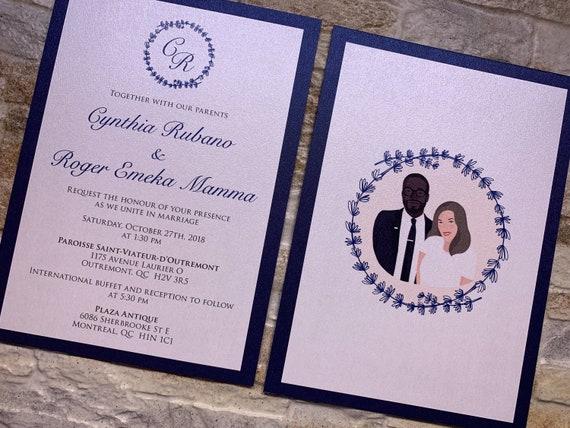 navy wedding invitation navy blue invitations navy wedding etsy