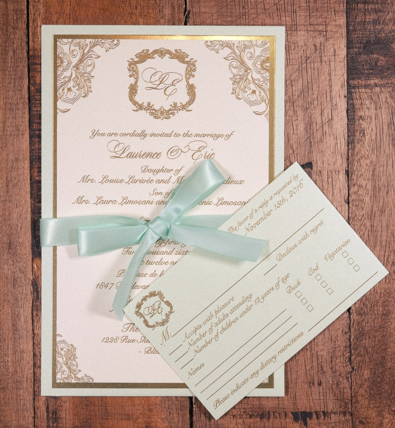 mint and gold wedding invitation mint and gold invitation mint and