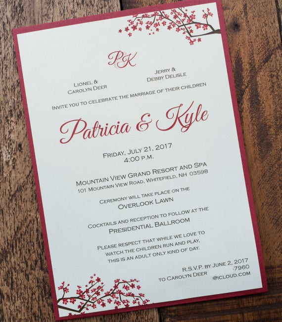 red invitation red invitations red and white wedding etsy