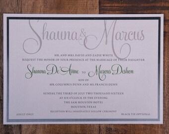 Chic wedding invitations, classy wedding invitation, chic invitation, classy invitations, personalized wedding  invitations, custom invites