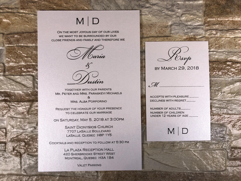 Formal Wedding Invitation, Black And White Wedding Invitation, black ...