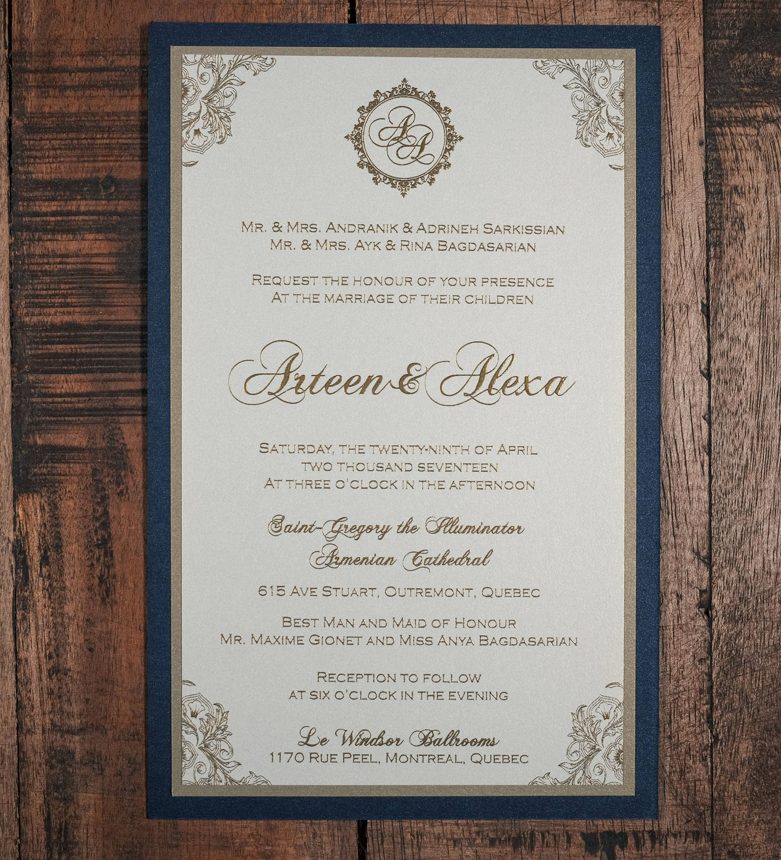 Armenian Wedding Invitation, Armenian Invitations, Bilingual Wedding ...