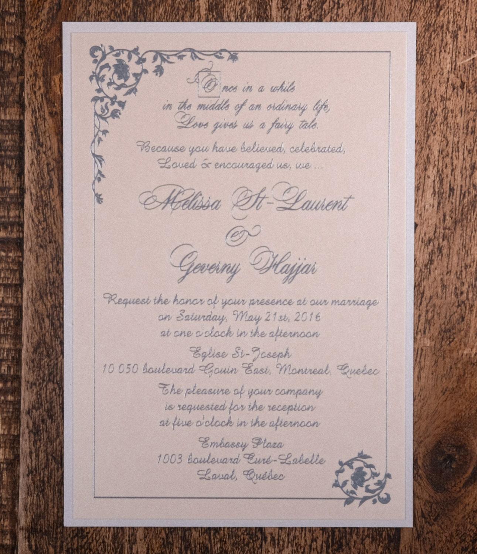 Fairytale Invitations Wedding