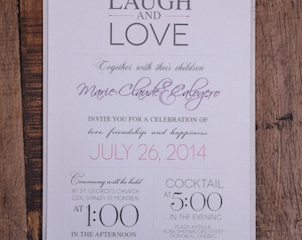 Beautiful wedding Invitations, Modern wedding invitation, Modern invitation, classy invitation, rustic wedding invitation, rustic invitation
