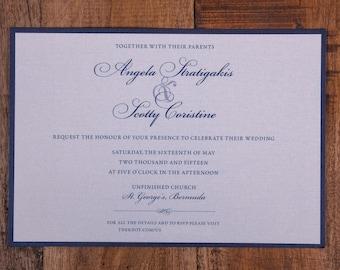 Navy Wedding Invitation, Traditional Invitation, navy Invitation, navy wedding invitations,  classy invitation, elegant invitations, invites