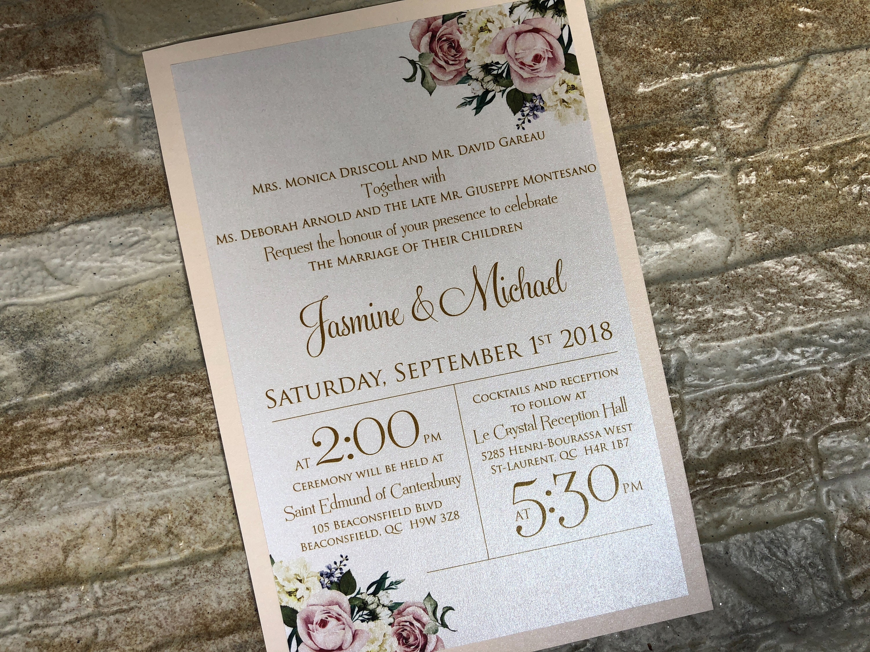 Boho Chic Wedding Invitations: Beautiful Wedding Invitations Boho Chic Invitation Blush