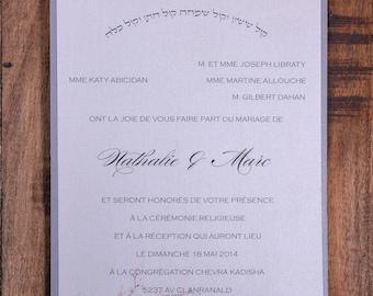 Cherry blossom wedding Invitations, Blush and silver wedding invitation, Silver and blush wedding invitation, blush and Silver Invitations