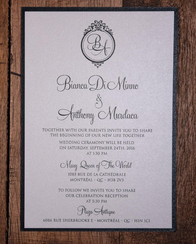 Black Tie Wedding Invitations, Black Tie Invitations, Formal ...