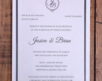 Formal Invitation, Silver Wedding Invitation, foil Invitation, Silver Invitations, Foil Invitations, Silver and blush Invitations, Elegant