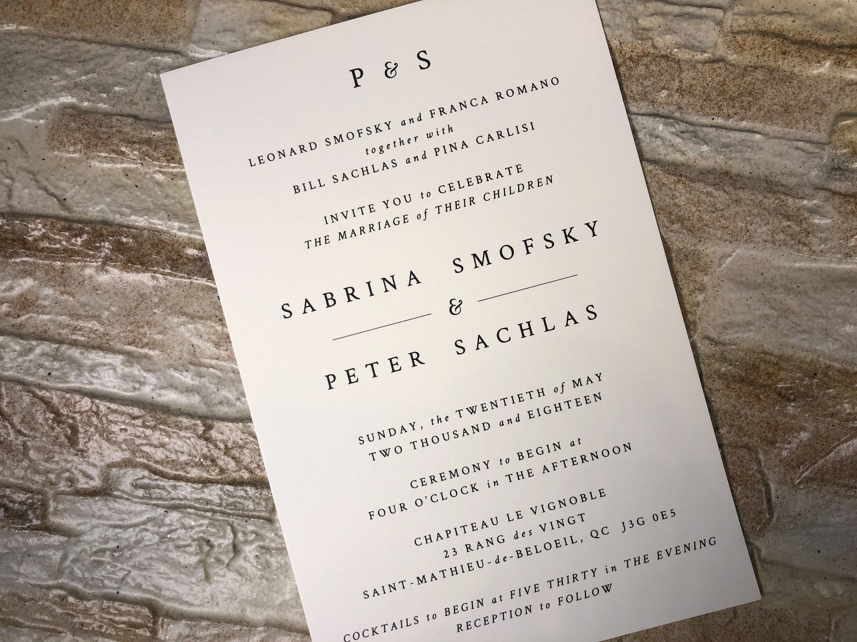 Modern Wedding Invitation, Modern Invitation, Simple Invitations ...
