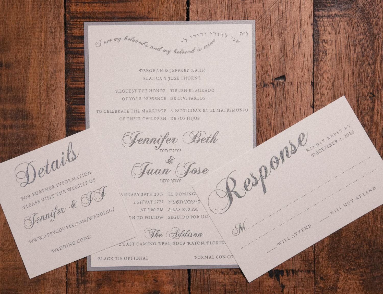 Bilingual Wedding Invitation, Spanish & English Wedding Invitation ...