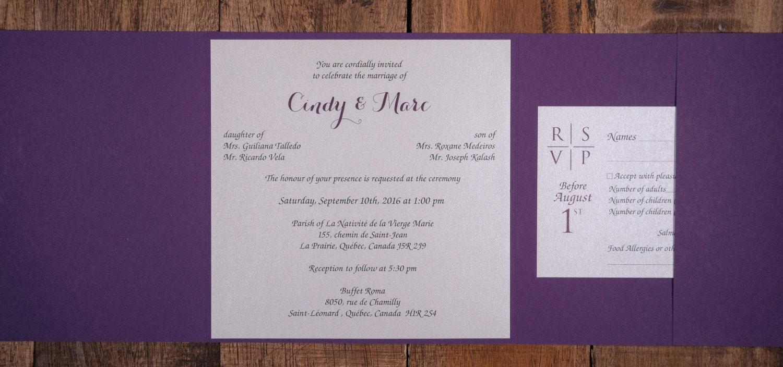 Purple And Black Wedding Invitations, Purple And Black Wedding ...